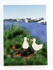 Postkarte Advent auf der Albatrosinsel