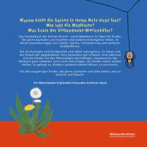 Cover hinter Ausmalbuch der kleinen Kriech- und Krabbeltiere